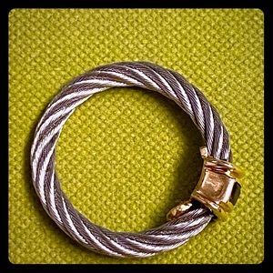Charriol cable and sapphire ring